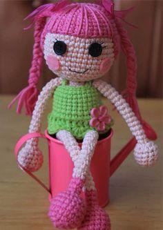 Patrón de amigurumi muñeca de lalaloopsy de ganchillo