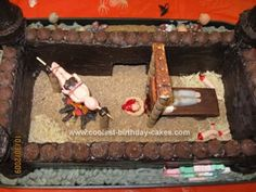 Homemade House of Horrors Cake... This website is the Pinterest of halloween cakes