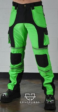 Cyberian Pants Black/UV Green