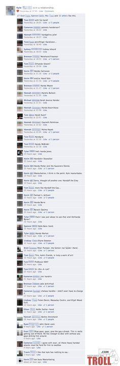 funny facebook troll