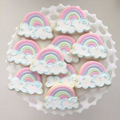 This Rainbow Cookies Birthday Party Summer Party Summer is just one of the custom, handmade pieces you'll find in our cookies shops. Rainbow First Birthday, Summer Birthday, Unicorn Birthday Parties, Party Summer, Unicorn Party, 2nd Birthday, Birthday Ideas, Unicorn Cookies, Unicorn Cupcakes