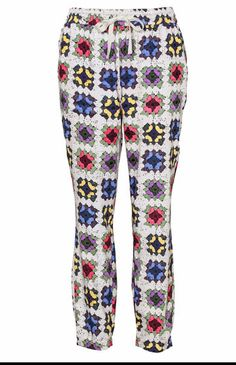Peter Alexander sells PJs and some of them are printed with a granny square motif.