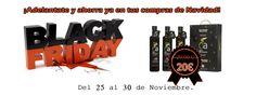 ¡¡BLACK FRIDAY!! ¡Adelantate y Ahorra YA en tus compras de NAVIDAD! Del 25 al 30 de Noviembre, SOLO en nuestra página web. http://www.oleoalmanzora.com