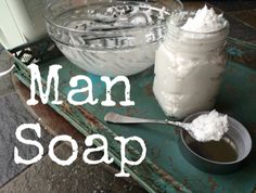 Man soap. Corrected link. This uses a bar and isn't a true from scratch whip soap but may be good for scent or emergency gift situations.