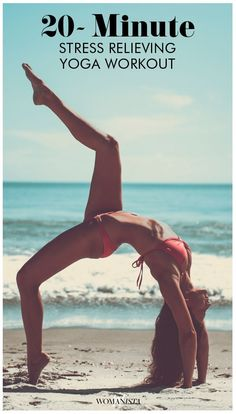 Stressed out? Try this 20-minute stress relieving yoga workout to feel refreshed and ready to start your day with a new mindset.   http://Womanista.com