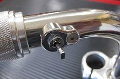 """Deadbeat Customs - Posh Factory - Single """"Flat"""" Mini Aluminum Handlebar Switch - 1"""" Handlebar, $49.99 (http://www.deadbeatcustoms.com/posh-factory-single-flat-mini-aluminum-handlebar-switch-1-handlebar/)"""