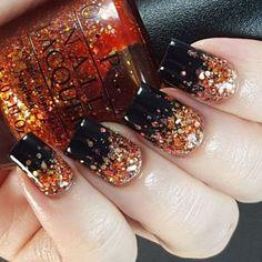 Glitter Gradient Nails, Black Glitter, Black Nails, Matte Nails, Acrylic Nails, Coffin Nails, Matte Gel, Black Polish, Glitter Art