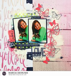 Love layout using the March Clique Kit featuring  the Love Notes collection from We R Memory Keepers and AlteNew origami stamps #wermemorykeepers #scrapbooking #layout #altenew