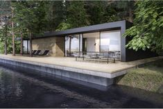 99 Attractive Lake House Home Design Ideas is part of House design - Many people today decide to buy a summer residence for relaxation There are many styles from log cabin to the […] Architecture Design, Residential Architecture, Exterior Tradicional, Living Haus, Design Exterior, Casas Containers, River House, Modern House Design, Modern Lake House
