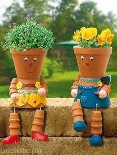 flower pot people diy planters crafts cute crafts diy planters easy diy kids crafts cute diy