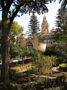 Heavenly retreat, the gardens and restaurant for a shady afternoon tea  at Palazzo Parisio, Naxxar, Malta
