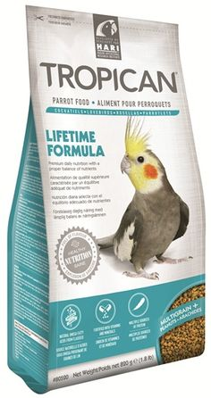 Tropican Lifetime Granules Cockatiel and Small Parrots Food Delicious, complete premium daily nutrition for your smaller Parrot.