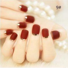 <3 #fallnails #fallmanicure #nailpolish #manicure