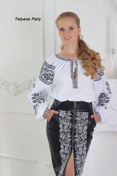 Polish Embroidery, Mexican Embroidery, Embroidery Dress, Folk Fashion, Ethnic Fashion, Womens Fashion, Ukrainian Dress, Ukraine Women, Mexican Outfit