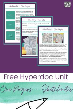 Want to try hyperdocs for your blended learning units, but aren't sure how to start? In this blog post, I'll show you how to create your own hyperdocs easily inside Google Slides, and also share a free example with you of a hyperdoc you can use to introduce sketchnotes and one-pagers. | one-pagers | hyperdocs | sketch notes | English teacher | distance learning Creative Curriculum, Creative Teaching, English Teachers, Teaching English, English Classroom Decor, High School English, Sketch Notes, Blended Learning, Teaching Strategies