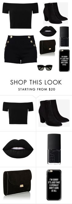 """Untitled #8"" by chantjaz ❤ liked on Polyvore featuring Alice + Olivia, Billini, Lime Crime, NARS Cosmetics, Mansur Gavriel, Casetify and Yves Saint Laurent"