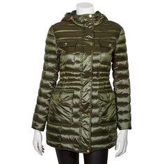Triple Star Hooded Down Packable Puffer Walker Jacket - Women's