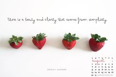 Free August Wallpaper Calendar. | #quote #simplify #LDS