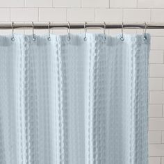 Genial Light Blue Shower Curtain