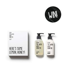 WINWINWIN: It's Tuesday, time for a giveaway! That's why we give away two of our lovely All Natural Cosmetics Hand Kits with our Lemon Honey Soap and Hand Balm on our Facebook or Instagram-channel and who knows - you might be the one to win it!  www.stop-the-water.com