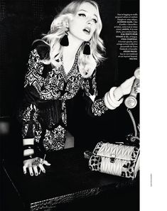 The great-granddaughter of the iconic and late American Harper's Bazaar editor-in-chief, Diana Vreeland—Caroline Vreeland, takes the spotlight for the October 23, 2015 issue of ELLE France. In the feature, the blonde bombshell wears eccentric fall styles including fur and psychedelic prints. Working with a top-notch team including photographer Ellen Von Unwerth (2b Management) and stylist …