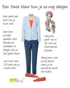 Een 'foute' kleur kun je zo nog dragen | www.lidathiry.nl | Klik op de foto voor de tips #goedekleuren #kleurenanalyse