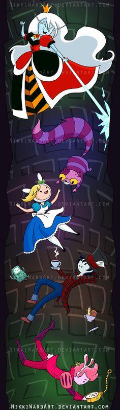 Fionna in Wonderland Adventure Time Alice in Wonderland Mashup