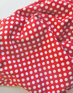 Red/White Polka Dot Crib Sheet!! Robert Kaufman by ModFox #MadeinUSA #pinparty