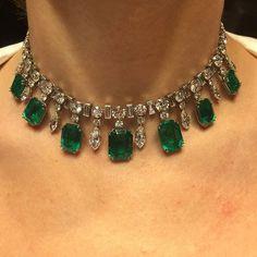 Emerald & Diamond Choker♡