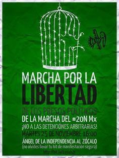 25 NOVIEMBRE, 4PM, ÁNGEL AL ZÓCALO: MARCHA POR LA LIBERTAD DE LXS PRESXS POLÍTICXS 20NovMx
