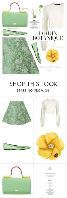 """mint garden"" by paperdollsq ❤ liked on Polyvore featuring Natasha Zinko, Jaeger, Louis Vuitton, Dolce&Gabbana, StyleNanda and Belk & Co."