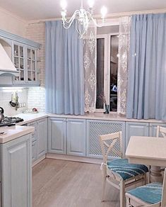 There are curtains in the windows of our eyes! Either we open these curtains and see the world or keep the curtains closed and see only the curtains! Elegant Curtains By Johanna . Home Decor Kitchen, Kitchen Interior, Home Interior Design, Home Kitchens, Small Apartments, Cozy House, Kitchen Remodel, Sweet Home, Room Decor