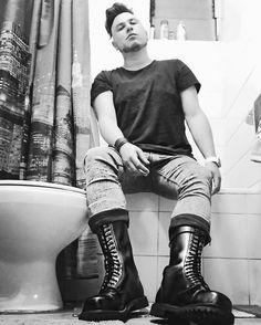 Men boots punk skinhead rangers gay
