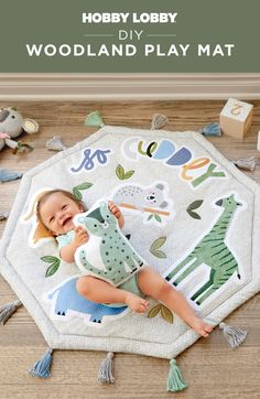 This cuddly animal mat offers a soft surface for playtime – so your wild one can kick, crawl and roll in comfort. Find free designs on our DIY Projects & Videos page. Unique Gifts For Boys, Gifts For Kids, Diy Projects Videos, Sewing Projects, Baby Shower Gifts, Baby Gifts, Hobby Lobby, Free Design, Little Ones