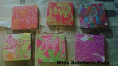 Miss Southern Prep: DIY--Lilly Coasters