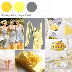 Shades of Yellow + Gray  http://www.theperfectpalette.com/2012/01/sunshine-day-palette-of-shades-of.html