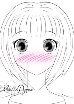 shy girl short hair
