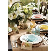 Inspired brunch table from Pottery Barn