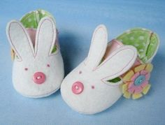 Bunny and Plain Baby Shoes - Booties Sewing Pattern Sewing Pattern - PDF ePattern. $3.99, via Etsy.