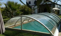 Winter Pool Covers: This Polycarbonate Pool Cover Can Save Your Swimming Pool in 3 Feet Snow - Excelite Pool Oberirdischer Pool, Buy A Pool, Diy Pool, Mesh Pool Covers, Pool Safety Covers, Swimming Pool Enclosures, Swimming Pool Decks, Winter Pool Covers, Solar Pool Cover