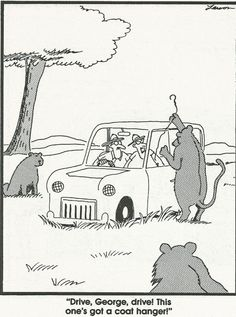 Who remembers these comics? Millions of people all over the world were fans of The Far Side! The Far Side was a single-panel comic created by Gary Larson Far Side Cartoons, Far Side Comics, Funny Cartoons, Funny Comics, Cat Comics, Cartoon Humor, Cartoon Cats, Cartoon Images, The Far Side Gallery