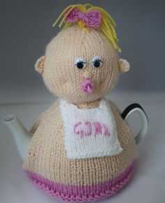 Baby shower gifts Knitted Tea Cosy hand knitted by sweetygreetings