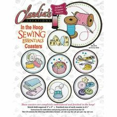 Machine Applique, Machine Embroidery, Sewing Essentials, Photo Quality, Coasters, I Shop, Embroidery Designs, Stitch, Hoop