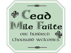 Irish Escapade - Printable Welcome Sign
