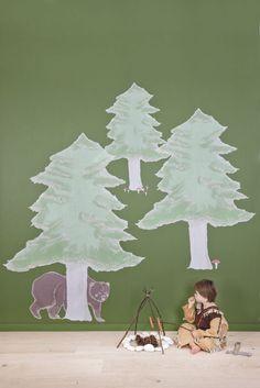 WALL ART - Het magische woud http://www.colora.nl/shop/muurstickers/muurstickers-wall-art