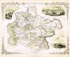 """Antique Map - """"INDEPENDENT TARTARY With 3 ENGRAVINGS"""" by J. Rapkin - Colored Lithograph - c1851"""