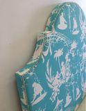 Regency Chinoiserie Upholstered Headboard in 7 Colours