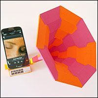 Phono horn. Free sound dock for your smart phone to download and make