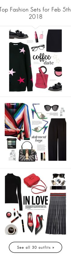 """""""Top Fashion Sets for Feb 5th, 2018"""" by polyvore ❤ liked on Polyvore featuring Givenchy, Balenciaga, Mother of Pearl, Simon Miller, Shashi, Bobbi Brown Cosmetics, EyeBuyDirect.com, Essie, loafers and suede"""