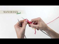 ▶ MANI DI FATA - MAGLIA TUBOLARE - TUBULAR CAST-ON (WITH WASTE YARN) - TUBULAR CON DOS AGUJAS - YouTube